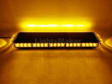 25 in Amber LED Warning Emergency Beacon Strobe Roof Top Flash Mini Lightbar 46W
