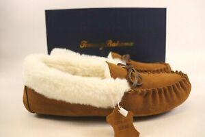 NIB $78 TOMMY BAHAMA Size 9 Women's Chestnut Brown 100% Suede House Slipper