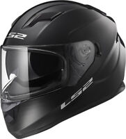 LS2 FF320 STREAM EVO GLOSS BLACK  DUAL VISOR PINLOCK FULL FACE MOTORCYCLE HELMET