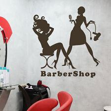 Barber Shop Wall Sticker Inspiration Beauty Girl Hair Salon Word Vinyl Art Decor