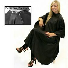 HAIRTOOLS  UNISEX GOWN BLACK WITH POPPERS  FASTENING