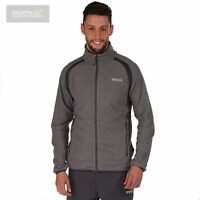 Regatta Mens Mons Micro Fleece Jacket - Light Grey - New - RRP £40