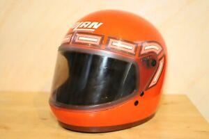 Nolan Motorradhelm,  Helm von 1979, Vintage Orange 1970's