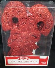 12 Red Candy Cane Glitter Ornament Christmas Tree Ugly Sweater Holiday Decor