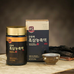 Cheonbu Korean Black Ginseng Extract 240g Healthy Food Superfood 9 Time-Steaming