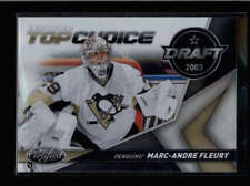 MARC-ANDRE FLEURY 2010/11 CERTIFIED TOP CHOICE DRAFT 2003 MIRROR GOLD /25 AC095