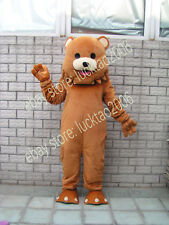Bear Mascot Cartoon Fancy Costumes Makeup Party Theater Clothing Adult size 090