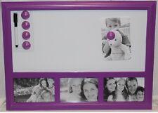 Whiteboard Memoboard Memotafel Pinnwand Magnettafel Bilderrahmen Pink Fotorahmen