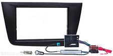 Radio Blende für SEAT Altea Toledo Doppel ISO Einbau Rahmen Kabel Adapter DIN