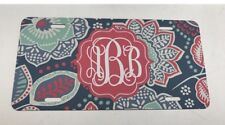 Monogram License Plate Coral Floral Personalized Car Tag New