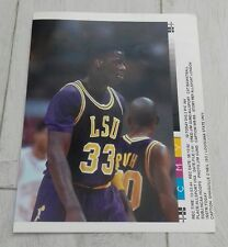 304) Shaquille O'Neil Louisiana state university basketball  press print photo