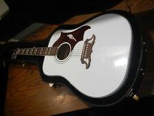 Epiphone Ltd-Ed-Dove-Pro Aw Acoustic/electric Guitar w/ hard case. white