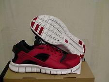 Nike huarache free run running shoes re & black size 8.5 us