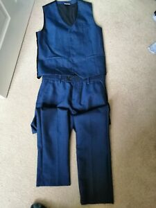 Boys Next Formal wedding pageboy Blue Trousers And Waistcoat Age 11-12
