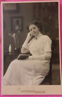 Vintage 1912 Cabinet Photo of Beautiful Danish Woman Girl from Lyngby Denmark