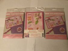 Girls Cute Pink Modern Bird Thank You Note - Postcard 24 Count 3 Packages Of 8