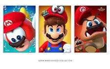 SUPER MARIO ODYSSEY x3 Posters 13x19each W/Custom Name & Foamboard Backing