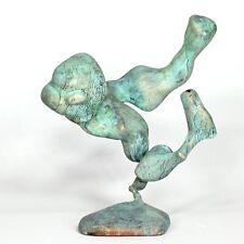 "Kunst Skulptur ""Pheidippides"" 18cm Unikat Andreas Loeschner-Gornau"