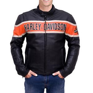 Harley Davidson Men's Victory Lane Motorbike Leather Jacket