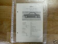 B3-BMW TYPEN 1500, 1600, 1800 EN 1800 TI 1962-1964-INFO TECHNICAL OLDTIMER CAR