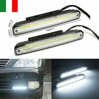 2x COB LED DRL Luce Diurna Auto SUV JEEP Nebbia Bianco Faro Lampada Bianco 6000K