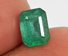 certified 0.80 Ct Natural Ethiopia Top Emerald Cut Rich Green Untreated Gemstone