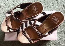 Elite High Heel Shoes, Beige & Brown.      (worn briefly once)