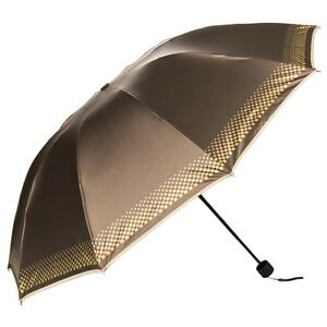 Women Lady Sun Rain Anti-UV Windproof Heavy Duty Travel Compact Folding Umbrella