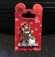 Disney Parks Mickey On Reindeer In Front Of Castle Christmas Pin NEW On Card