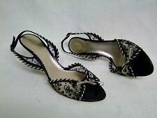 GIORGIO ARMANI Schicke Damen Schuhe Pumps Sandalen schwarz Gr. 39 Top Zustand
