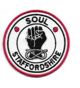 NORTHERN SOUL : SOUL STAFFORDSHIRE -  Embroidered Iron Sew On Patch Badge