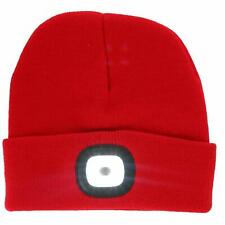Night Scout Men's LED Rechargeable Beanie Cap, Red