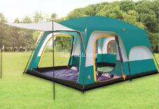8-12 Person 3 Season Double Layers 2 Room Anti Hard Rain Big Family Camping Tent