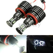 2x 80W LED Angel Eyes Halo Marker Light H8 Error Free For BMW E90 E92 E63 E70 X5