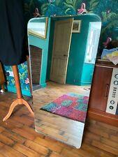 Vintage Large Frameless Wall Hanging Mirror