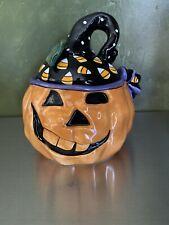 Blue Sky Clayworks Jack O Lantern 2009 Halloween Heather Goldminc Pumpkin 7.5�