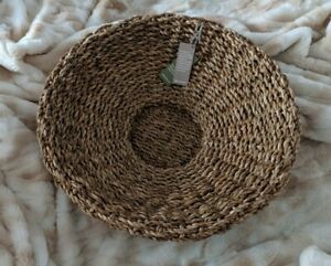 Large round woven tray /  platter / basket for humpers or storage FAIR TRADE