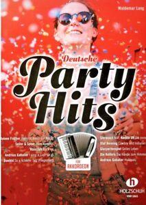 Akkordeon Noten : Deutsche Party Hits - leichte Mittelstufe - mittelschwer