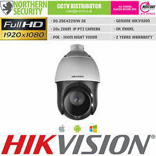 HIKVISION PTZ IP SECURITY CAMERA 2 MEGAPIXEL FULL HD 1080P 20x ZOOM POE 100M IR