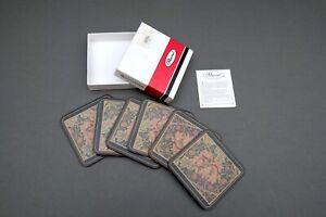 Boxed Set 6 Pimpernel Coasters William Morris Honeysuckle Design