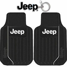 New 3pcs Set Jeep Elite Style Logo Car Truck Front All Weather Rubber Floor Mats