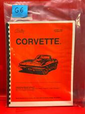 Corvette Pinball Game Operations/Service/Repair /Troubleshooting Manual Bally G6