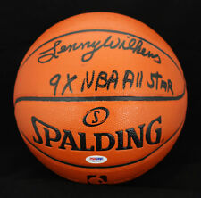 Lenny Wilkens SIGNED I/O NCAA Basketball  +9 x NBA All Star PSA/DNA AUTOGRAPHED