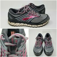 Brooks Ariel 18 Pink Mesh Cross Athletic Running  Sneakers Shoes Womens Size 9