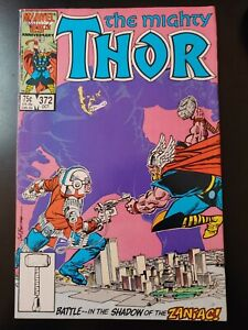 🔨 THOR #372 1st App Time Variance Authority (1986 MARVEL Comics) FN Book