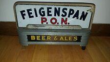 (VTG) 1930s feigenspan beer reverse on glass back bar light up sign Newark NJ