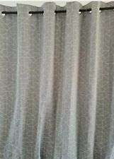 "Next Silver Linear Geo  Eyelet Curtains 66x90""(168x229)cms rrp£85"
