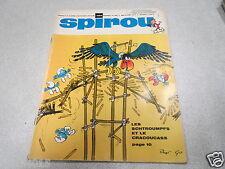 SPIROU MAGAZINE N° 1585 29 aout 1968 + MINI RECIT sans supplément SCHTROUMPFS*
