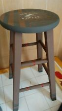 """Barstool, 24.5"""" wooden, New, shabby chic hand finished, black and brown"""