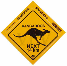 Australia Made Souvenir Roadsign Sticker Decal Australian Kangaroo